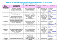 Афиша (план мероприятий) на февраль 2017 - 0001
