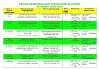Афиша (план мероприятий) на август 2016 - 0001