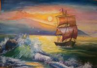 Сумарокова Юлия Закат на море
