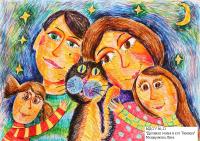 Дружная семья и кот Тимоша- Мещерякова Лиза