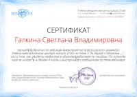 сертификат об участии в вебинаре Детский сад 2100