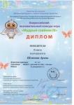 Дипломы за участие во Всероссийском познавательном конкурсе Мудрый совенок 3 - 0002
