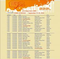 Расписание 1-го тура БББЛ 21-23.09.18