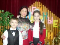 Саша, Алина и Е.Л. Амирхановы