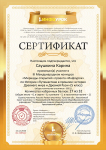 Сертификат проекта infourok.ru № 239504