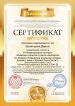 Сертификат проекта infourok.ru № 232249