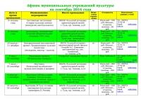 Афиша (план мероприятий) на сентябрь 2016 - 0001