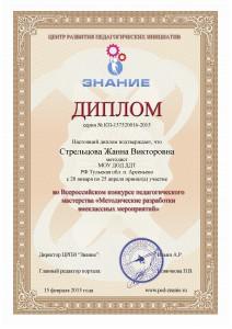 Сертификат Стрельцова - 0002