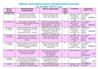 Афиша (план мероприятий) на ноябрь 2016 - 0001