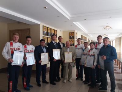 Награждение Тульских спортсменов