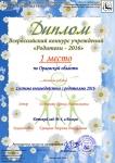 Добарина И.А. Диплом за 1 место по Орловской области в конкурсе проводимым ССИТ